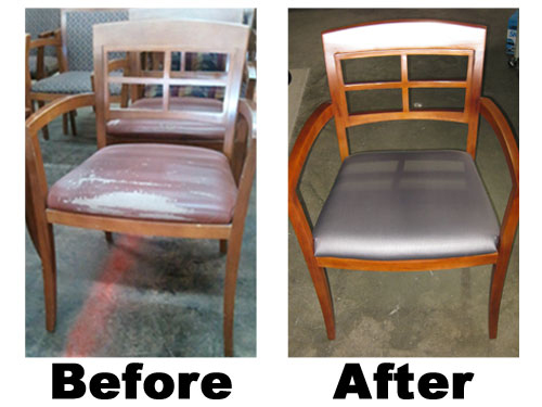 Refinished Chairs For Client Extended The Life Of A High Quality Wood Chair Saved Money And From Being Disposed